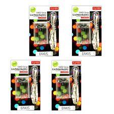 4er Set SMD LED Lichtleiste 30 bunte Leuchten | Lichtstreifen Batterie | Band