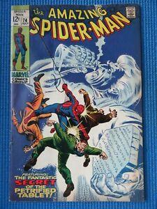 AMAZING SPIDER-MAN # 74 - (FINE) -SILVERMANE, MAN MOUNTAIN MARKO,GWEN STACY