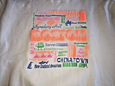 Boston Day-Glo 1980's City strong Tourism Sweatshirt L/Xl Rare red sox