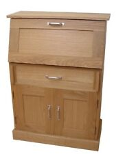 Oak Bureau 2 Doors & 1 Drawer Plus Fold Down Writing Desk Door