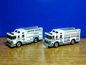Matchbox Police NYPD Hazard Squad Rescue ESU Bomb Squad trucks lot of 2 custom