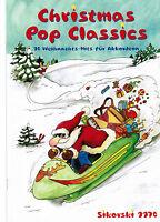 Akkordeon Noten : Christmas Pop Classics leichte Mittelstufe - WEIHNACHTEN