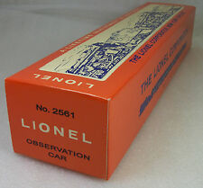 LIONEL 2561 VISTA VALLEY OBSERVATION CAR PERFERATED PICTURE FRONT REPRO BOX