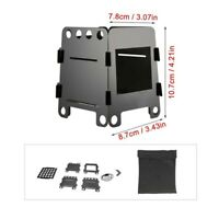Wood Burning Stove Portable Foldable Outdoor Camping Barbecue BBQ + Storage Bag