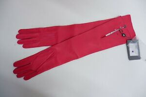 Alexander McQueen New Long Pink Soft Lambs leather Gloves Bnwts Size 8  Opera