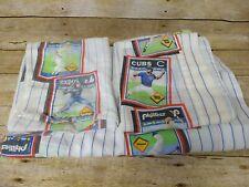Vintage Baseball Twin Sheet & Pillow Cases MLB Team Logos 1989