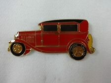 Old Car Red & Black Lapel / Hat Pin