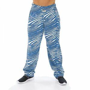 Zubaz NFL Men's Detroit Lions Classic Zebra Print Team Logo Pants