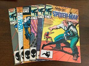 Web of Spider-Man #9 -14 (1985, Marvel) LOT OF 6 Black Suit NM-s