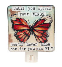 """SPREAD YOUR WINGS Butterfly Night Light, 4.5"""" Tall, by Ganz"""
