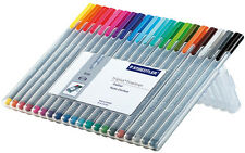 STAEDTLER 334 TRIPLUS FINELINER FELT TIP 0.3mm ASSORT 20/PACK 334SB20 in Case