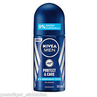 (65€/L) 50ml Nivea Men Protect & Care Deo Roller 48h Deodorant Roll on