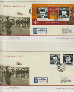 """FALKLAND ISLANDS-  2006 """" VICTORIA CROSS """"  PAIR FIRST DAY COVERS"""