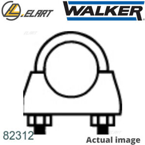 CLAMP EXHAUST SYSTEM FOR VW FORD GOLF III VARIANT 1H5 AFN AGG 2E ADY AKR WALKER