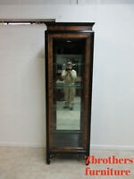 Vintage Ethan Allen Pan Asian Curio Display Cabinet Hutch Shelf