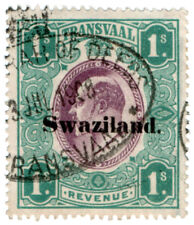 (I.B) Swaziland Revenue : Duty Stamp 1/-