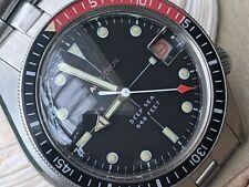 Vintage 1969 Bulova Accutron Deep Sea Diver w/Warm Patina,Orig Bracelet,Serviced