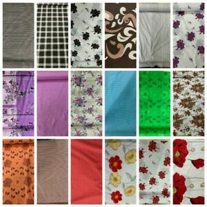 """Printed Poly cotton fabric (90"""" width fabric) 17 design , UK seller ,TOP QUALITY"""