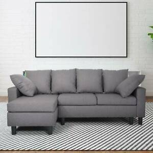 Modern Luxury Sofa Left & Right Hand Side Grey 3 Seater Storage Corner Sofa