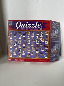 """Quizzle Dogs of the World 850 Piece Puzzle Quiz Game New 28"""" X 20"""" Board Game"""