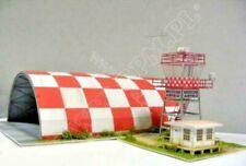 Sport Aviation Hangar   1:144 scale   Model Kit   (LASERCUT SET)   PREPAINTED