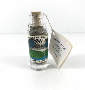 Authentic Volcanic Ash Mount St. Helens Collectors Sealed Glass Bottle 5/18/1980