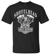 Harley-Davidson Men's T-Shirt, Shovelhead Engine Short Sleeve, Black 30294026