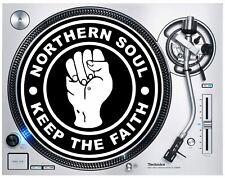 More details for northern soul keep the faith dj slipmat - vinyl technics turntable decks