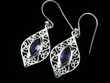 Amethyst Earrings - FREE Shipping, FAST Delivery, US Seller, 925 Pure Silver