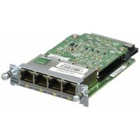 Used Cisco EHWIC-4ESG-P Four port 10/100/1000 Ethernet switch interface card