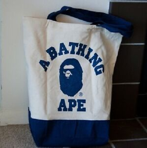 A Bathing Ape BAPE Canvas Tote Shoulder Bag Japan Exclusive NEW Ships-From-USA