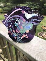 Stephen R Nelson 1989 Signed Art Glass Vase Stunning Detail!!