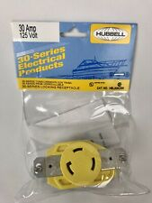 HUBBELL Marine 30-Series Locking Receptacle HBL305CRR 30 Amp - 125 Volt - NEW