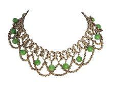 Vintage Signed Napier Rhinestone Beaded Festoon Necklace