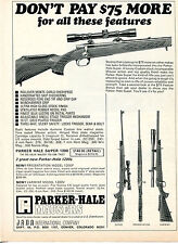 1969 Print Ad of Jana Parker Hale Model 1200 Super Presentation & Varmint Rifle