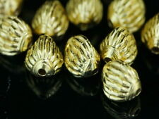 KG-436 KSB THAI KAREN HILL TRIBE SILVER 4 GOLD VERMEIL FANCY FACET BEAD