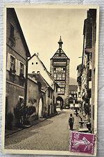 """CPA """" RIQUEWIHR - Grand'rue et porte haute"""