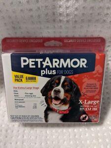 BrandNew Sealed Pet Armor Plus XL Dogs 89-132 lbs Flea & Tick 6 month treatment