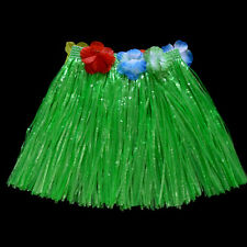 Hawaiian Grass Skirt Flower Hula Fancy Dress Adult Costume Summer Beach Party HG
