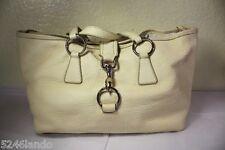 Vintage MIU MIU White Leather Satchel Shoulder Bag Italy