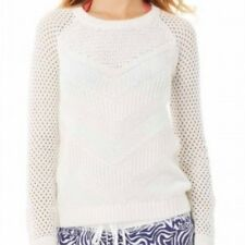 Lilly Pulitzer White Blythe Pullover Sweater Womens XS *NEW* $118