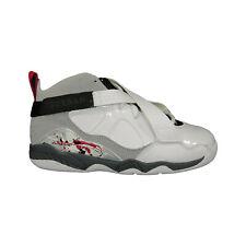 Nike Jordan 8.0 467809 105 Boys Shoes White Leather Basketball Vintage Sz 13.5 C