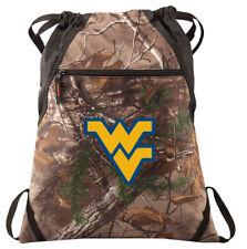 WVU Camo Cinch Pack REALTREE West Virginia University Drawstring Bag Backpack