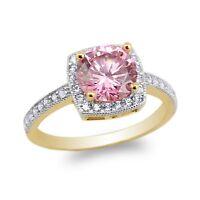 Details about  /JamesJenny 10K//14K White Gold Heart Shaped Halo Round CZ Ring Size 5-9