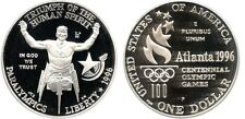 1996 USA Large Silver Proof $1-Paralympic Athlete