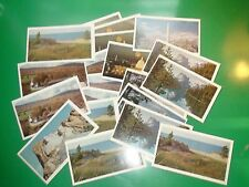 JC632 Vintage LOT of 21 Postcards US Monuments Scenic American Oil Co 1969