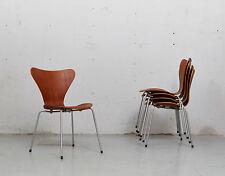 Arne Jacobsen Teak Sidechair 3107 für Fritz Hansen, 1963! Set of four