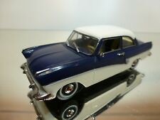 DETAILCARS FORD TAUNUS 17M 1957 COUPE - BLUE+WHITE 1:43 - GOOD CONDITION - 5