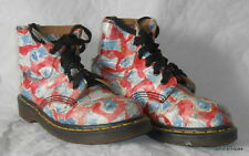 Doc Martens Original peces Estampada Para Hombre/Damas LONGITUD DEL TOBILLO BOTAS TALLA UK 4