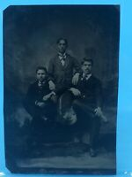 """Father & Sons Vintage Suits 2.25"""" x 3.4"""" Tintype"""